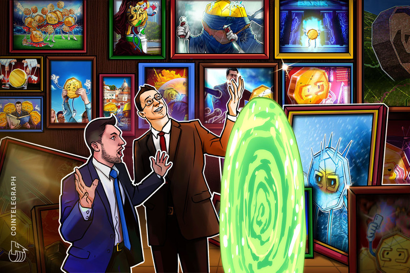 Opera d'arte crypto legata a Rick and Morty venduta all'asta per 150.000$
