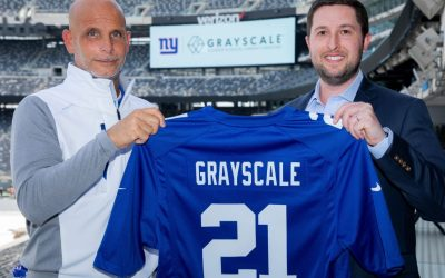 Bitcoin nella NFL: Grayscale partner dei New York Giants